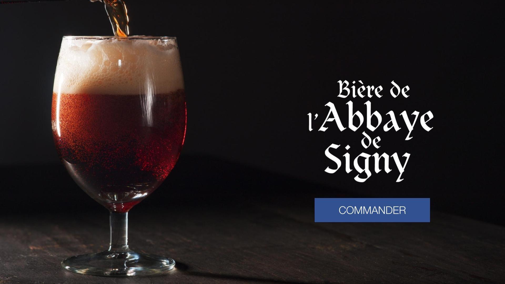 La bière de l'Abbaye de Signy est une bière bio